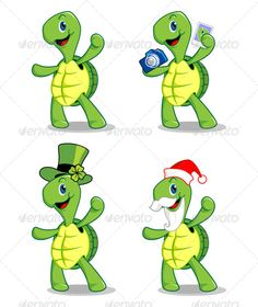 Turtle Mascot  available on : 1. fotolia.com 2. graphicriver.com 3. istockphoto.com 4. vectorstock.com