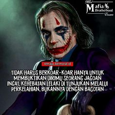 Quotes Indonesia, Joker Quotes, Cartoon Memes, Arabic Quotes, Bokeh, Slogan, Qoutes, Motivational Quotes, This Or That Questions