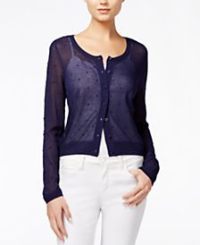 Maison Jules Sheer Cardigan, Only at Macy's