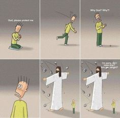 Jesus cartoon protecting kid from stones - my favorite Bible Verses Quotes, Jesus Quotes, Bible Scriptures, Faith Quotes, Christian Humor, Christian Life, Christian Quotes, Jesus Cartoon, Bibel Journal