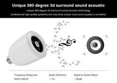 High quality Speaker built-in Smart Music Lamp