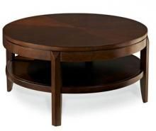 Round is in!  This beautiful American Drew Cocktail table will add sophistication to any living room!