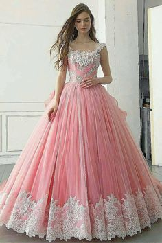 Pink Ball Gown Appliqued A Line Long Prom Dress Burgundy Prom Dress, Ball Gown Evening Dress, Beautiful Prom Dress, Evening Dress Long, Pink Evening Dress Prom Dresses Long Princess Prom Dresses, Pink Prom Dresses, Tulle Prom Dress, Quinceanera Dresses, Pretty Dresses, Beautiful Dresses, Dress Up, Dress Long, Gorgeous Dress