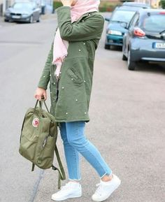 green jacket hijab style-Colorful cardigans for veiled women – Just Trendy Girls