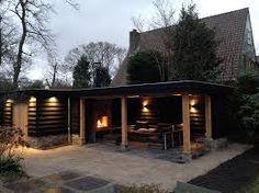 Afbeeldingsresultaat voor houten tuinschuur