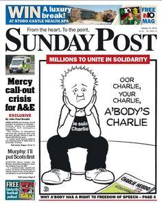 Une Sunday Post (GB) #JeSuisCharlie #CharlieHebdo