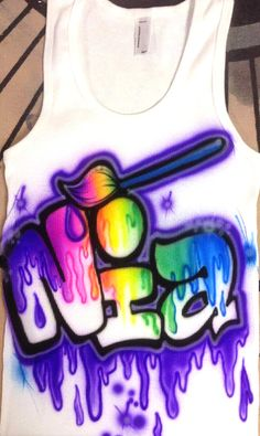 Kids Airbrush TANK or T-SHIRT on Etsy, $25.00