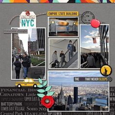 I used new york, new york collab by Amanda Yi Designs and Jady Day Studios. Travel Scrapbook Pages, Paper Bag Scrapbook, Vacation Scrapbook, Scrapbook Sketches, Scrapbook Page Layouts, Scrapbook Supplies, Scrapbook Cards, New York Scrapbooking, Scrapbooking Ideas