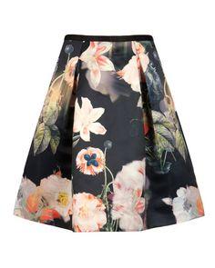 { Ted Baker Paladia Opulent Bloom Print Skirt }