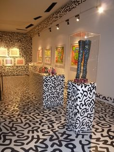 Keith Haring by Nicholas Kirkwood collection at the Nakamura Keith Haring Museum, Tokyo