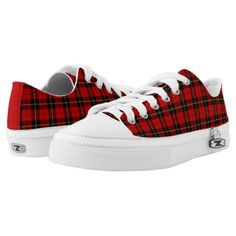 Clan Wallace Tartan Canvas Low-Top Sneakers - patterns pattern special unique design gift idea diy