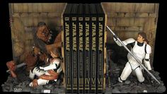 Star Wars Trash Compactor Bookends  The valiant rescue of Princess Leia takes a turn for the worse when our heroes evade on-rushing stormtroopers by jumping down a garbage shoot. Each set of bookends is numbered and comes complete with matching certificate of authenticity. [link]