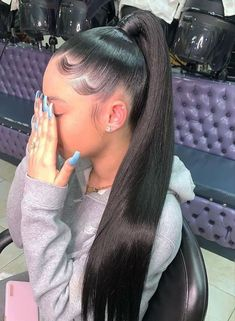 Thriving Hair Glueless Virgin Human Hair Silky Straight Pre-Plucked 360 Lace Front Wigs Source by thrivinghair hair Ponytail Haircut, Long Ponytail Hairstyles, Hair Ponytail Styles, Sleek Ponytail, Baddie Hairstyles, Curly Hair Styles, Natural Hair Styles, Short Hairstyle, Weave Hairstyles