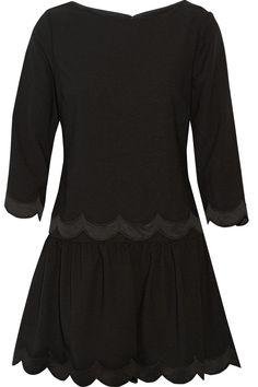 RED VALENTINO Scalloped Crepe Mini Dress. #redvalentino #cloth #dress