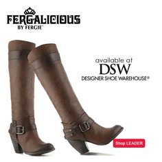 Sure to make you stand out from the rest with the ability to look flawless with your favorite jeans & it's buckle detailing. You'll lead the way for the fashion pack in the #Fergalicious by #Fergie LEADER boots, on sale now at @Dani W Designer Shoe Warehouse!