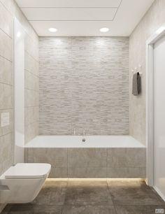 Ванная каменная стенка