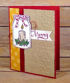 Create With Christy: Jar of Cheer - Christmas Candle Card
