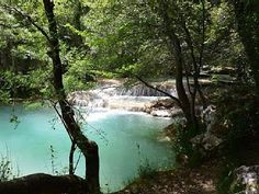 Olive Mill waterfall, 18th Century Olive Mill, Bresque River, Salernes, France