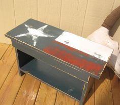 Upcycled Texas Flag Bench