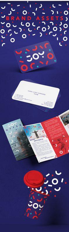 Joyful rebranding for event agency Graphic Design Trends, Graphic Design Branding, Graphic Design Inspiration, Logo Branding, Logos, Monogram Logo, Joy Logo, Brand Identity Design, Behance
