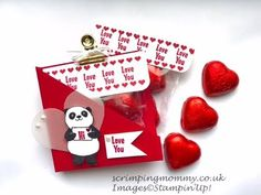 Mini treat gift box Video Tutorial using Sealed With Love and Sending Love by Stampin' Up Valentines Treats Easy, Valentine Love Cards, Valentine Gifts, Treat Holder, Homemade Cards, Stampin Up Cards, Small Gifts, Making Ideas, 3 D