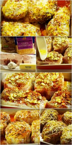 brown sugar garlic cheese pork chops Cut brown sugar in half, double seasoned salt, cut butter to 3 tblsp - maybe use olive oil and butter