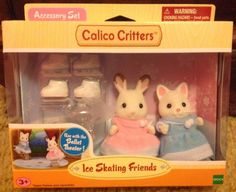 Calico Critters Ice Skating Friends New #CC1729 Hopscotch Rabbit Susie Silk Cat #CalicoCritters
