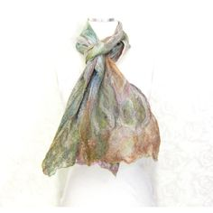 Cobweb Felted Scarf Wool Scarf Winter Scarf Fall Scarf Womens Scarf... (€49) ❤ liked on Polyvore featuring accessories and scarves