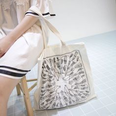 Dress Up Confidence! 66girls.us Tassel Print Tote Bag (DHTR) #66girls #kstyle #kfashion #koreanfashion #girlsfashion #teenagegirls #younggirlsfashion #fashionablegirls #dailyoutfit #trendylook #globalshopping