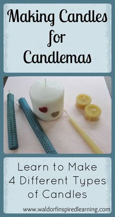 Learn to make 4 different types of candles to celebrate Candlemas, the halfway point between Winter Solstice and the Spring Equinox. Great projects to do with children.