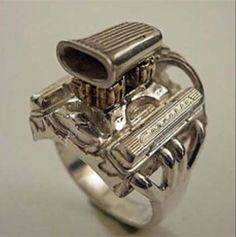 Jewelry For Gearheads Engines Pinterest Engine Ring