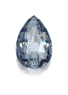 A 10.48 ct. exceptionally rare fancy blue diamond. The drop-shape briolette stone has been graded flawless by GIA (estimate $3.5 million–$4.5 million).