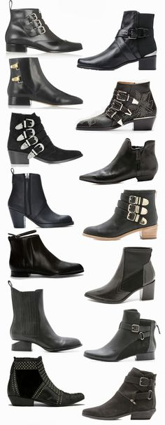 bd6609a8bba Fall black ankle boots wish list