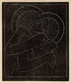 Wood Engravings by Eric Gill  Divine Lovers I. @designerwallace