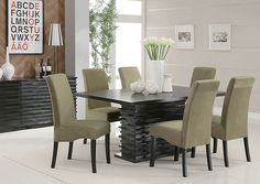 The Stanton collection will give your contemporary casual dining and entertainment room a bold update. With this unique wave design and diff...
