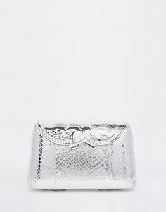 Image 1 - ASOS BRIDAL - Pochette rigide à fermoir clip orné de pierreries