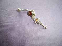 rhinestone cross belly button ring  belly jewelry navel ring