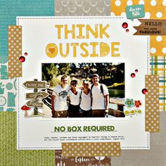 Think Outside Layout by Summer Fullerton featuring Jillibean Soup Mushroom Medley collection