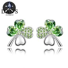 c2e85fc05 DAN'S New Dropship made with Austria crystal earrings for women Sales Four  Leaf Clover Tattoo,