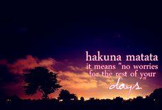 hakuna~matata~quote - Google Search