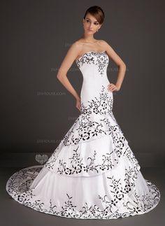 Wedding Dresses  - Mermaid Sweetheart Sweep Train Satin Wedding Dress With Embroidery (002015509) http://jjshouse.com/Mermaid-Sweetheart-Sweep-Train-Satin-Wedding-Dress-With-Embroidery-002015509-g15509?ver=0wdkv5eh