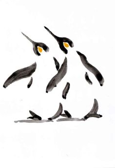 A series of Penguin paintings using a loose ink and watercolor wash technique.  Signed on the back.  Each piece is on 130gsm high quality paper.  Packaged between 2 pieces of sturdy cardboard and...