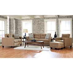 Prestige Bryce Sofa, Loveseat, Chair and Ottoman Collection - Sam's Club