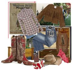 Western is my style!! by diane-fritz-sager on Polyvore featuring polyvore, fashion, style, MANGO, Miss Me, Lee, Yves Saint Laurent, Bailey Western, Levi's and Sterling