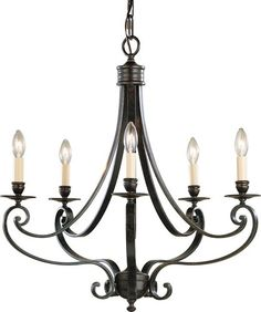 Murray Feiss Liberty Bronze Cervantes Wrought Iron 5 Light Up Lighting Chandelier from the Cervantes Collection Bronze Chandelier, 5 Light Chandelier, Country Chandelier, Candle Chandelier, Ceiling Fixtures, Light Fixtures, Ceiling Lights, Ideas, Industrial Style