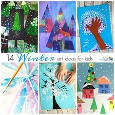 Arty Crafty Kids - Seasonal - 14 Winter Art Ideas for Kids