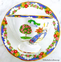 Hammersley Lady Fayre Tea Cup and Saucer by TheBelovedTeacup on Etsy https://www.etsy.com/ca/listing/460568878/hammersley-lady-fayre-tea-cup-and-saucer