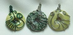 Wired Wrapped Donut Pendant