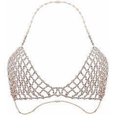 QIYUN.Z Women's Sexy Body Chain Jewelry Simple Bikini Bra Necklace ($15) ❤ liked on Polyvore featuring jewelry, necklaces, chains jewelry, sexy jewelry, sexy necklace, chain necklaces and body chain necklace