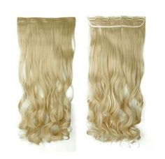 Curly Hairpiece Clip in Hair Extensions